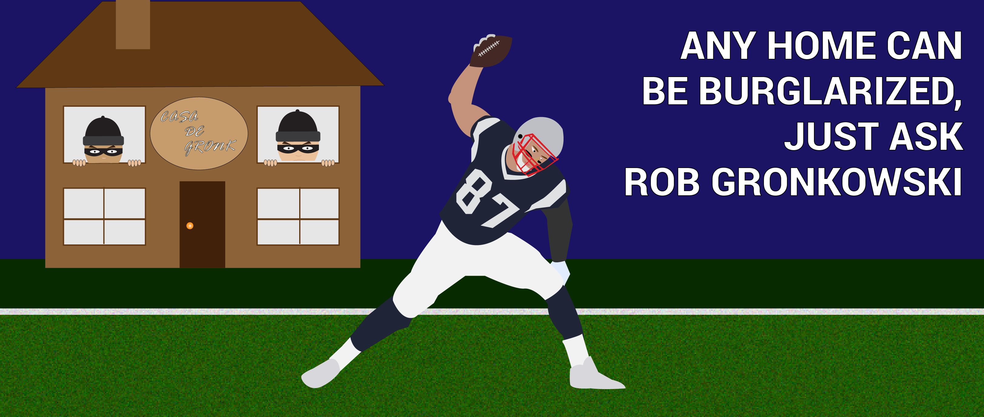 New England Patriots Tight End Rob Gronkowski Home Robbed