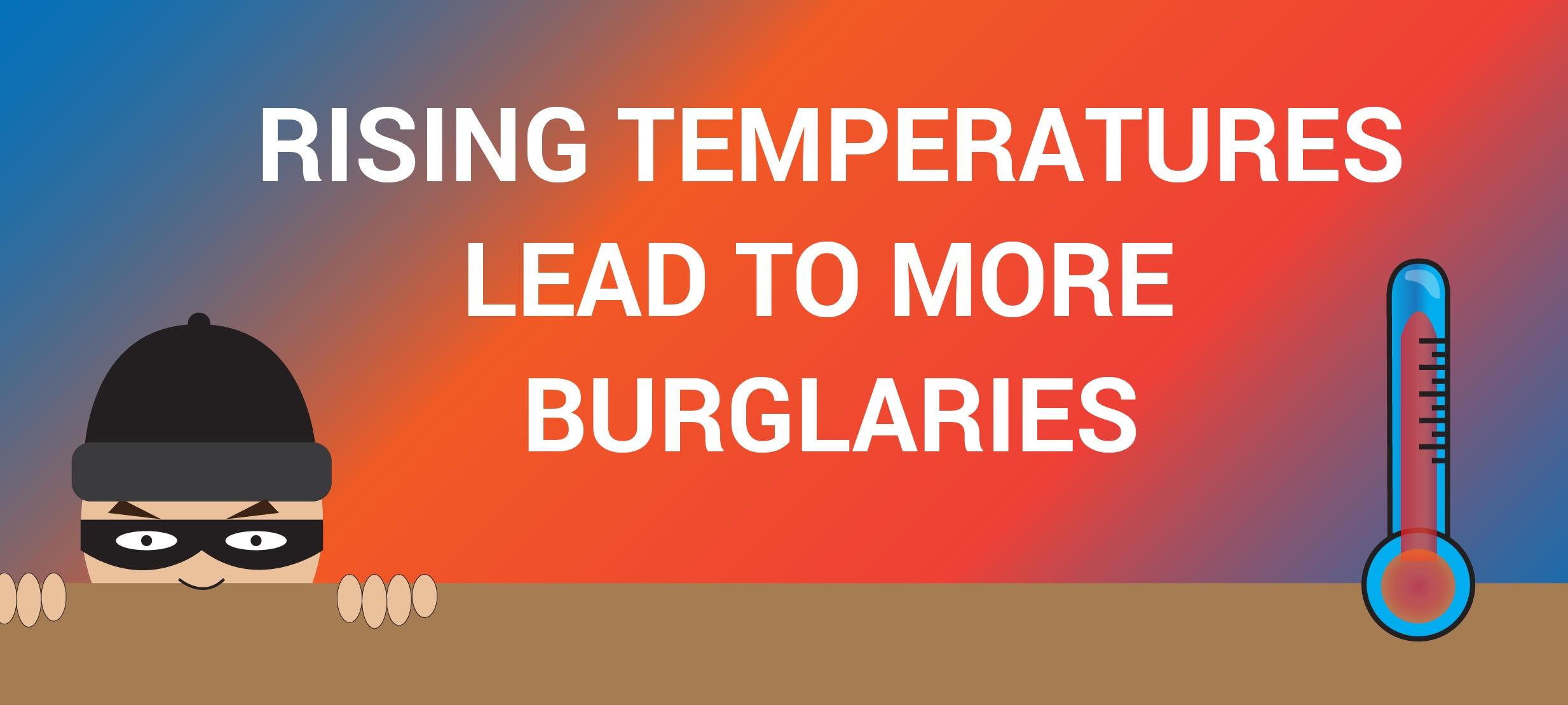 Warm weather leads to more burglaries
